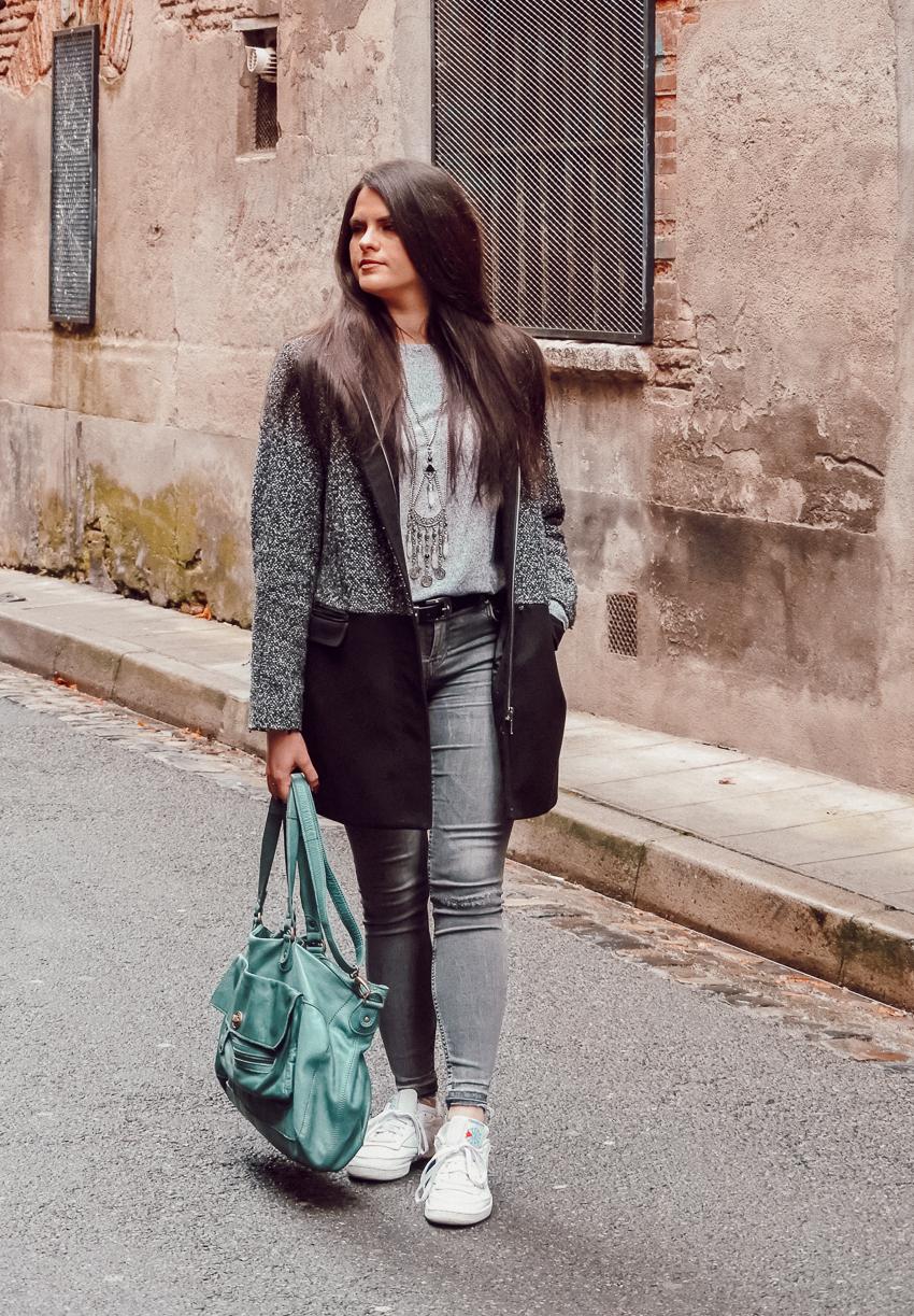 Look n°161 • Total look gris