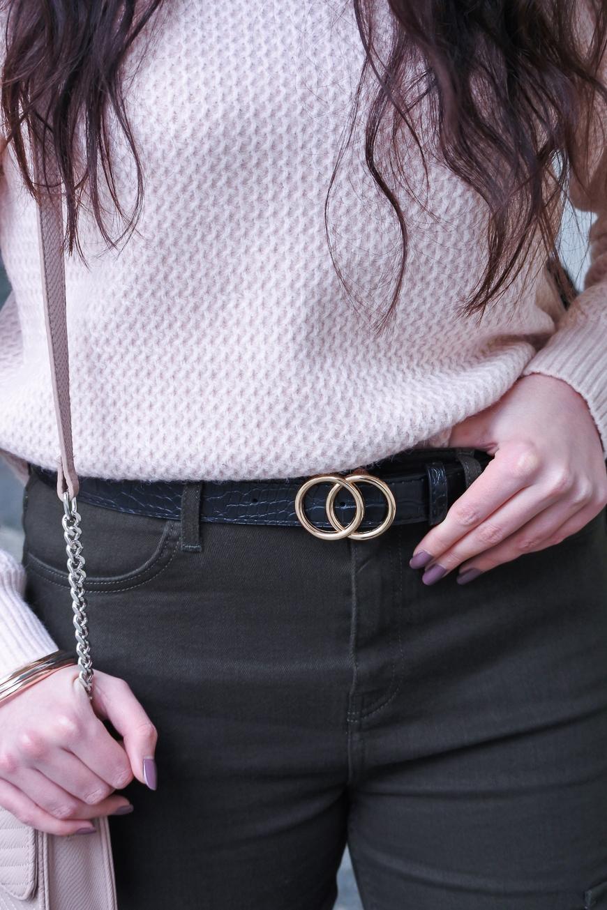 ceinture cercles dorée