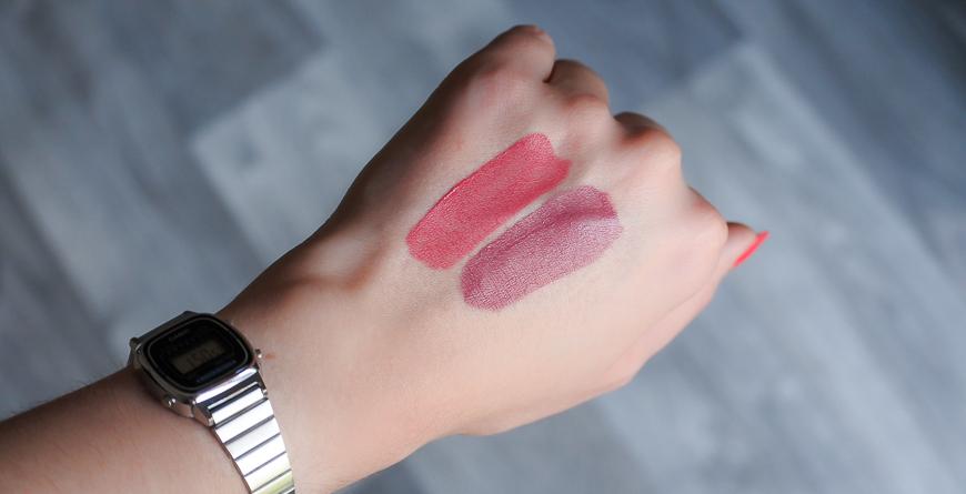 swatchs rouges à lèvres banana beauty
