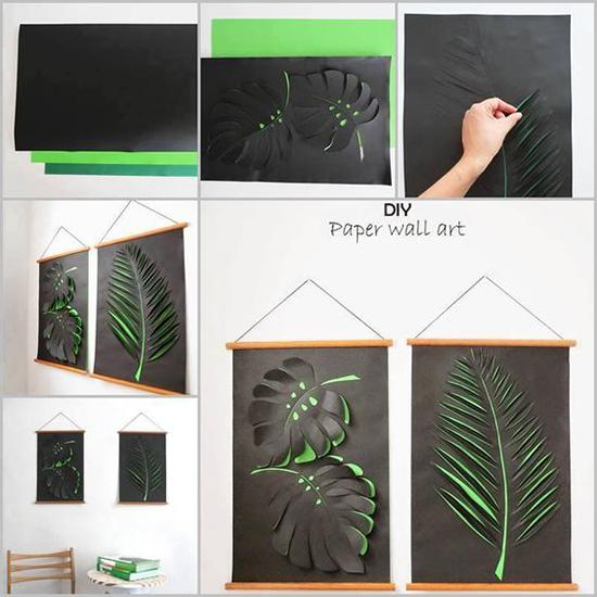 diy tableau feuilles