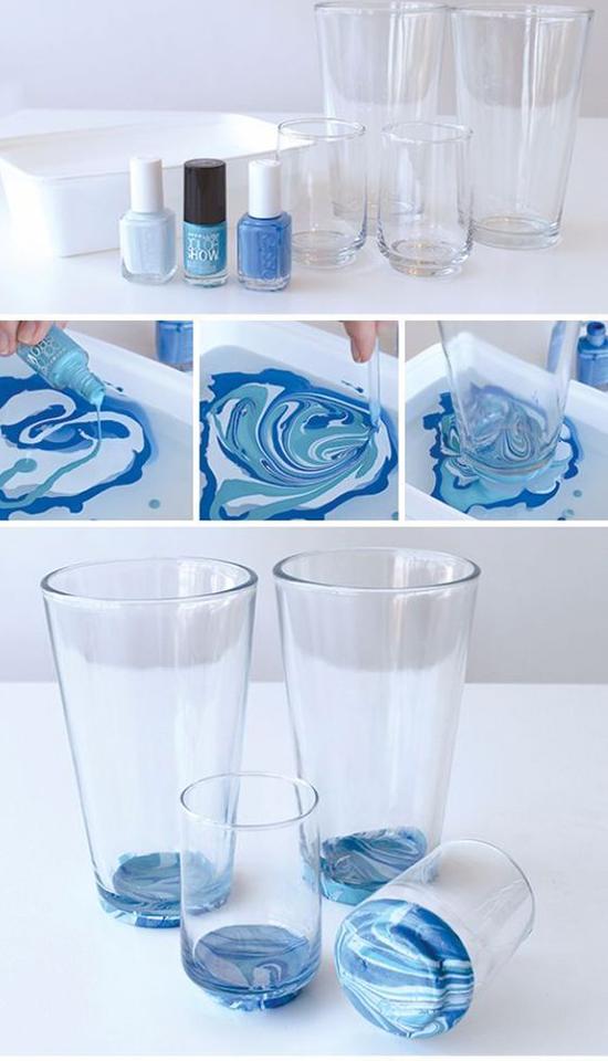 diy verres bleu