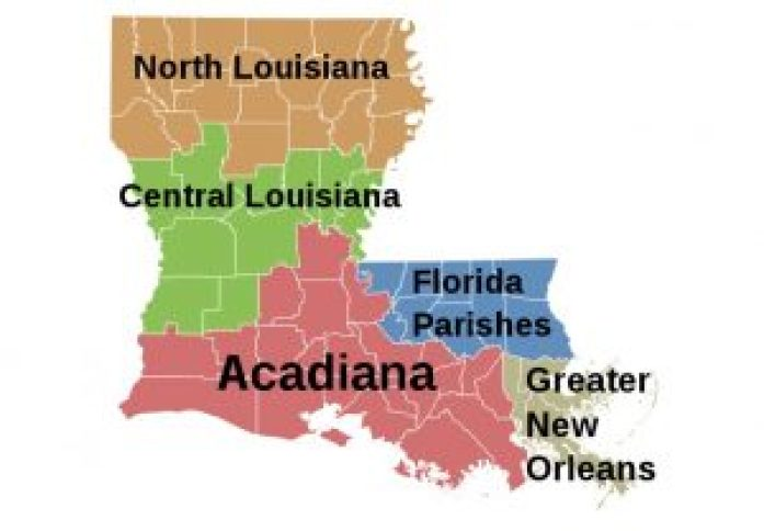 acadiana, carte louisiane, pays cajun
