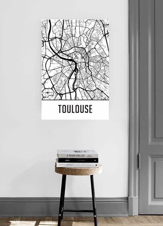 Affiche Toulouse carte