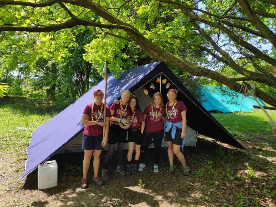 La tenda Explora8, unica tenda etica fatta in Italia, per le squadriglie dei gruppi scout