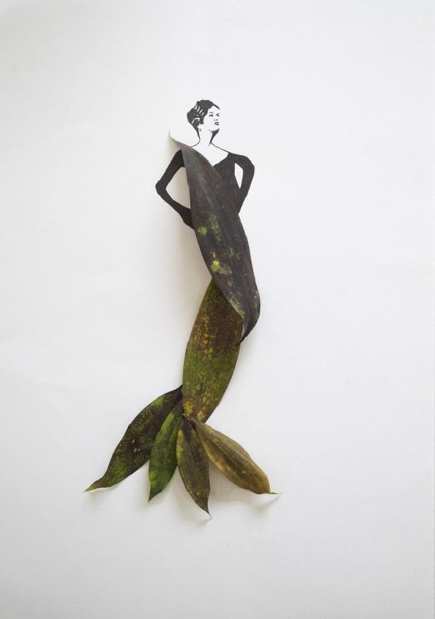 Artista da Malásia consegue unir folhas à moda nessa elegante série de imagens