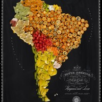 Food Art - Map the World's Most Famous Foods