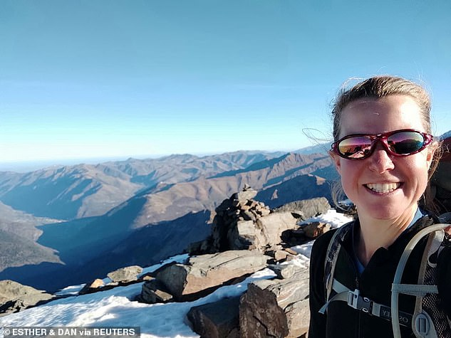 Esther Dingley, 37, was hiking the Pyrenees mountains on the border between France and Spain when she vanished, prompting a search and rescue operation that has since been suspended due to the weather