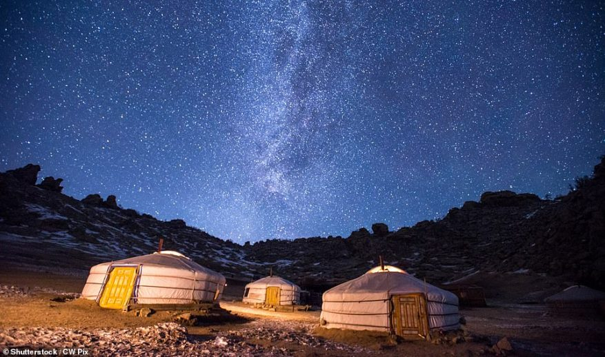 Stay in yurt-like tents and go on trips to spot Asiatic ibex, Mongolian gazelles, polecats and — if you are lucky — snow leopards