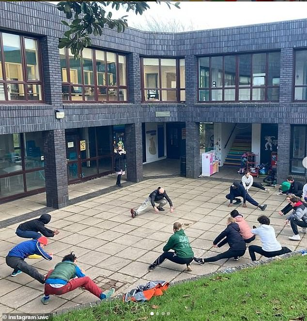 Sports on offer include calisthenics, a form of fitness which utilises gravity and bodyweight leverage to challenge your fitness level (pictured, students trying out calisthenics)