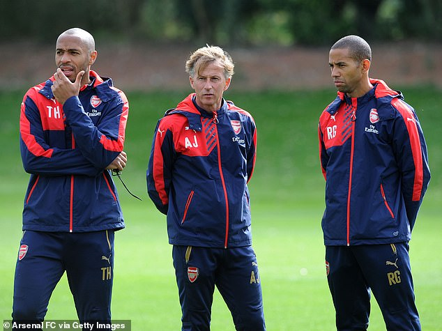 Andries Jonker (centre) wanted Henry to be Arsenal's Under 18 coach but he was overruled