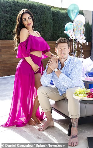 Capturing precious moments: The Blue singer and his girlfriend posed for pregnancy shoot conducted at their home near Malaga, in Spain