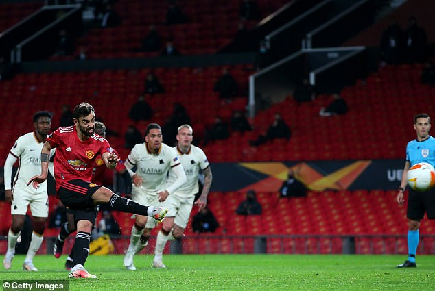 The Portugal star netted twice and also provided two assists to put United in control of the tie