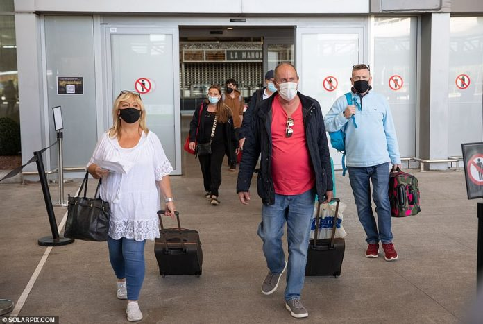 The first flights from Britain arrive at Malaga Airport today after Spain has lifted the travel restriction from the UK