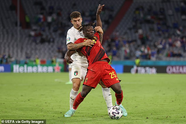 Belgium's Jeremy Doku, a teenager of Rennes, impressed in his fleeting appearances