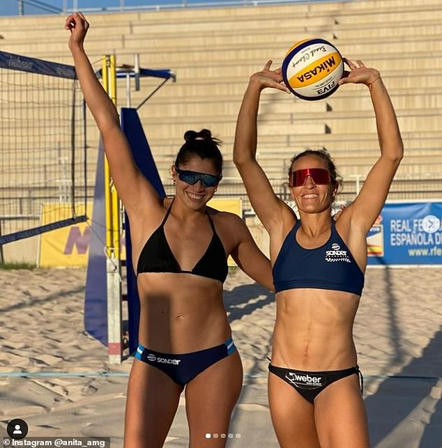 Ana Gallay, 35, and Fernanda Pereyra, 30, are Argentina's hopefuls this Olympic Games (pictured in Spain)