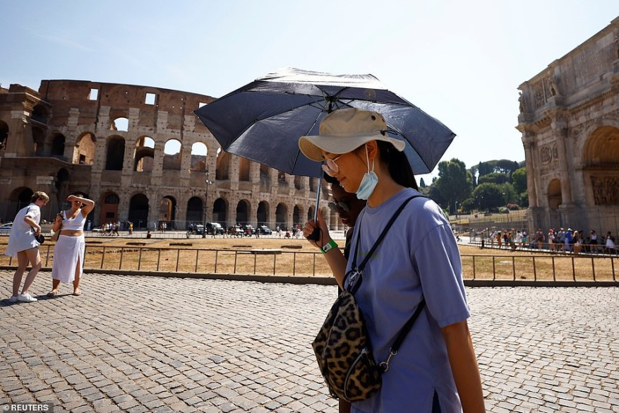 Stifling heat kept its grip on much of Southern Europe on Thursday, driving people indoors at midday, and making sightseeing difficult for tourists