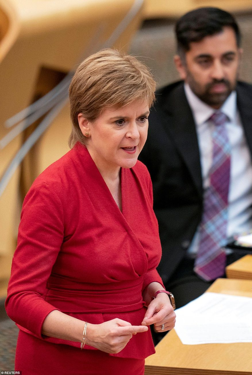 However, Nicola Sturgeon's SNP has firmly rejected the possibility of Britain leasing its existing bases from a newly-independent Scottish government. The party's deputy leader at Westminster said the suggestion was a 'non-starter'