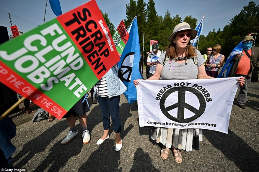 A permanent protest site alongside the base, known as Faslane Peace Camp, has been occupied continuously since the early 1980s