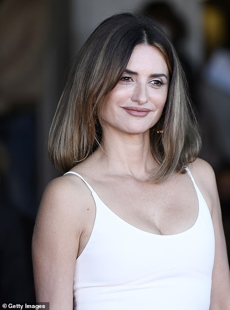 Lovely: The movie talent wore her lightened locks down in a voluminous style