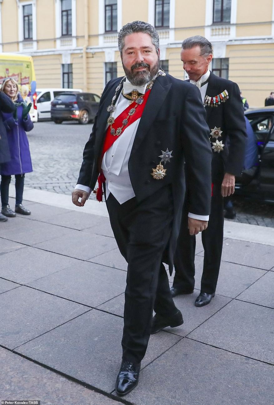 Grand Duke George Mikhailovich of Russia, a descendant of the Romanov dynasty, is seen prior to a reception at the Russian Museum of Ethnography marking his wedding.