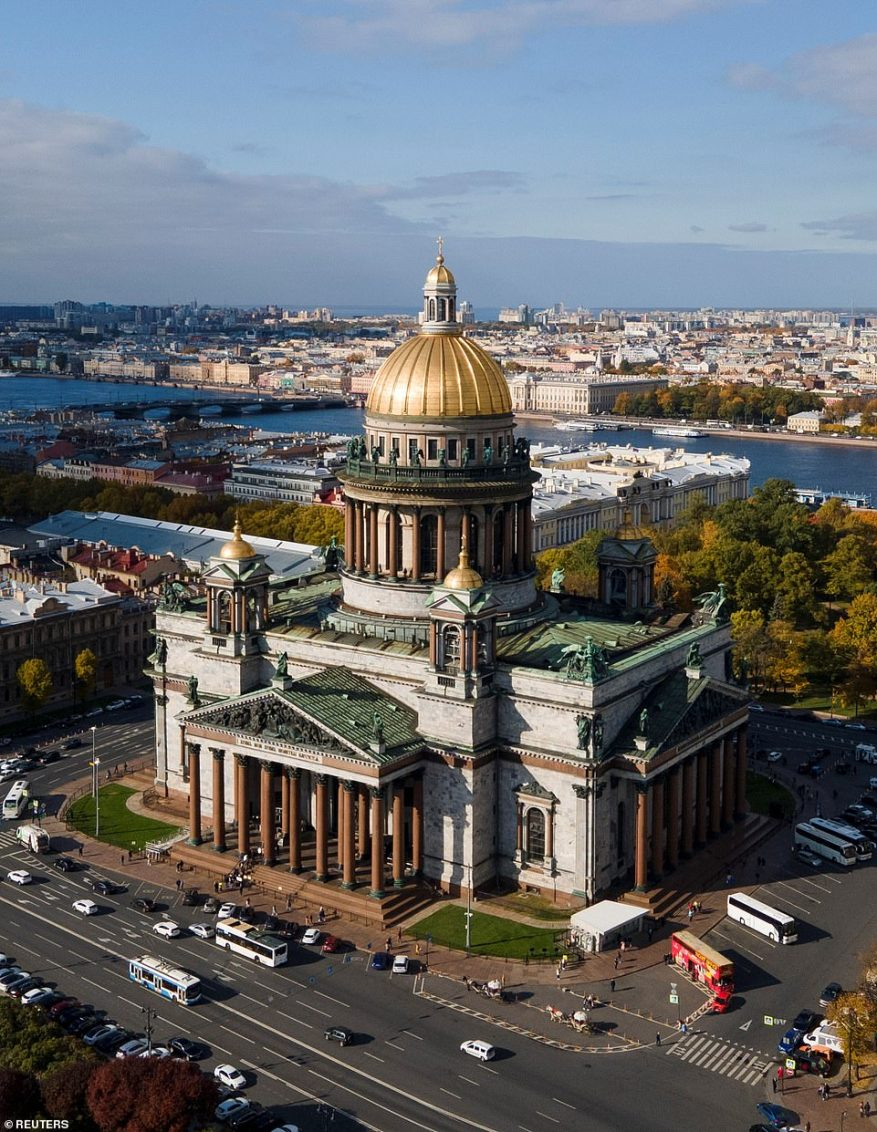 The couple said their vows at the Saint Isaac's cathedral in the former imperial capital Saint Petersburg in the presence of dozens of royals.