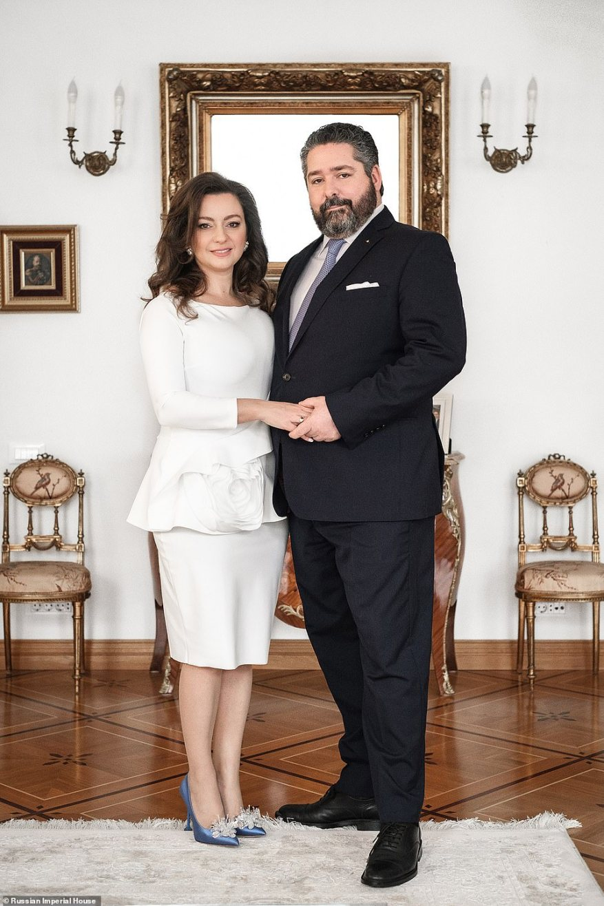 The Russian Grand Duke George Romanov married his long term girlfriend Rebecca in a lavish ceremony after a Christmas proposal.
