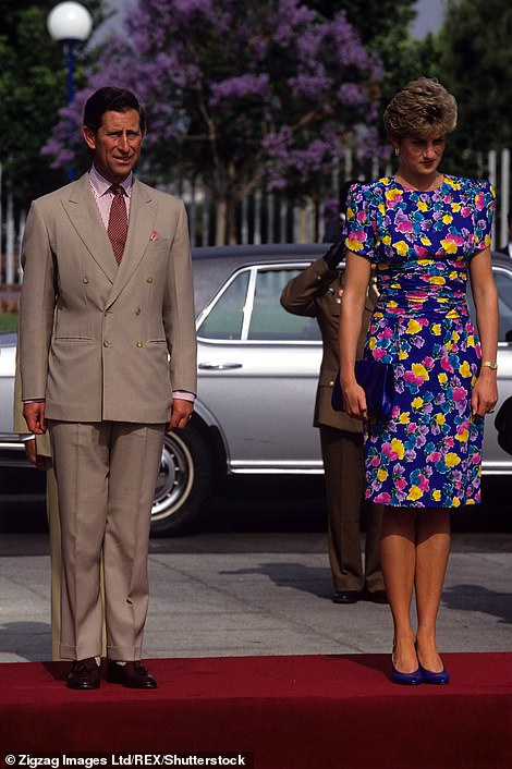Seeing double:While they may have been filming a recreation of the 1991 trip, The Crown's wardrobe department had taken inspiration from a trip the following year, copying the couple's outfits from their visit to the Universal Exposition of Seville  in 1992 (pictured)