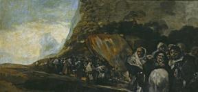 23. Goya. Procissão do Santo Oficio, 1819-1823