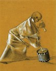 38 Felix Nussbaum. Skeleton with drum. 1944.