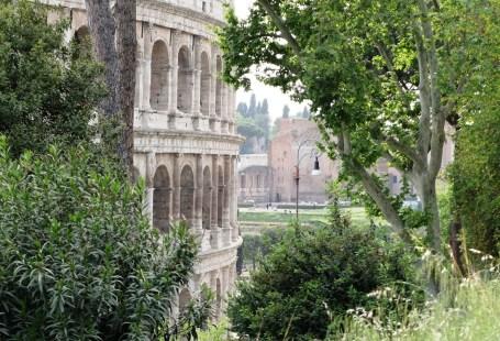 Premier aperçu du Colisée à Rome