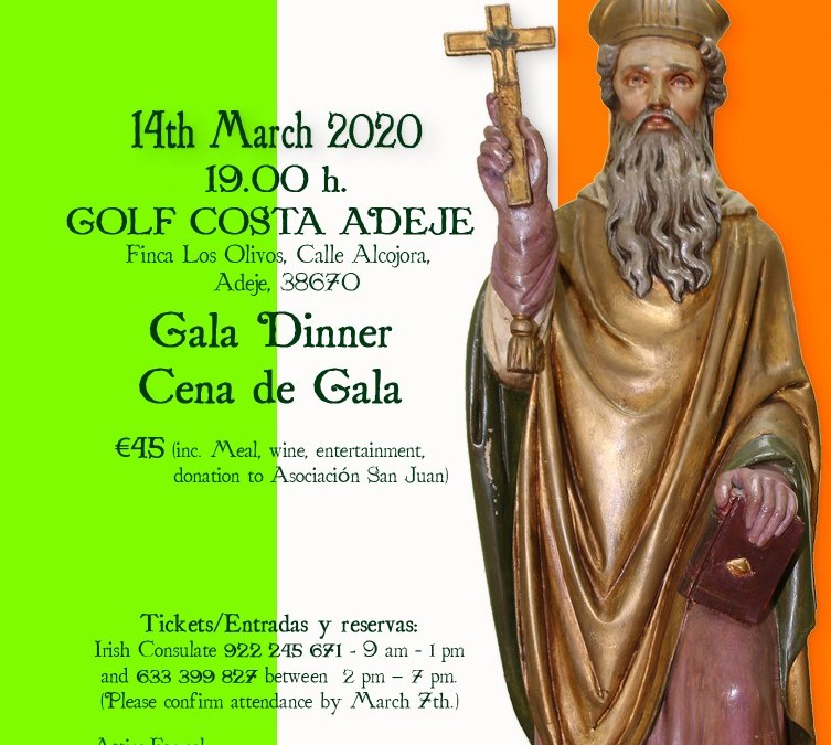 St Patrick's Day annual Gala Dinner