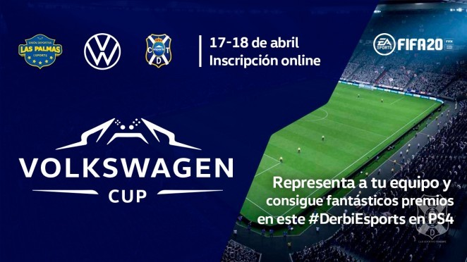 Participate with CD Tenerife Esports in the #VolkswagenCup of FIFA 20
