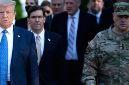 George Floyd death: Gen Mark Milley sorry for joining Trump walk to church
