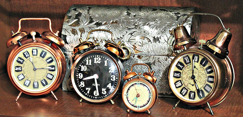 Vintage Copper Alarm Clocks