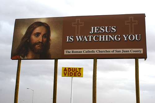 Jesus is Watching You (and adult videos)