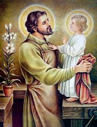 San José con el Niñito Jesús
