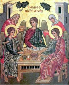 Abraham recibe a Dios