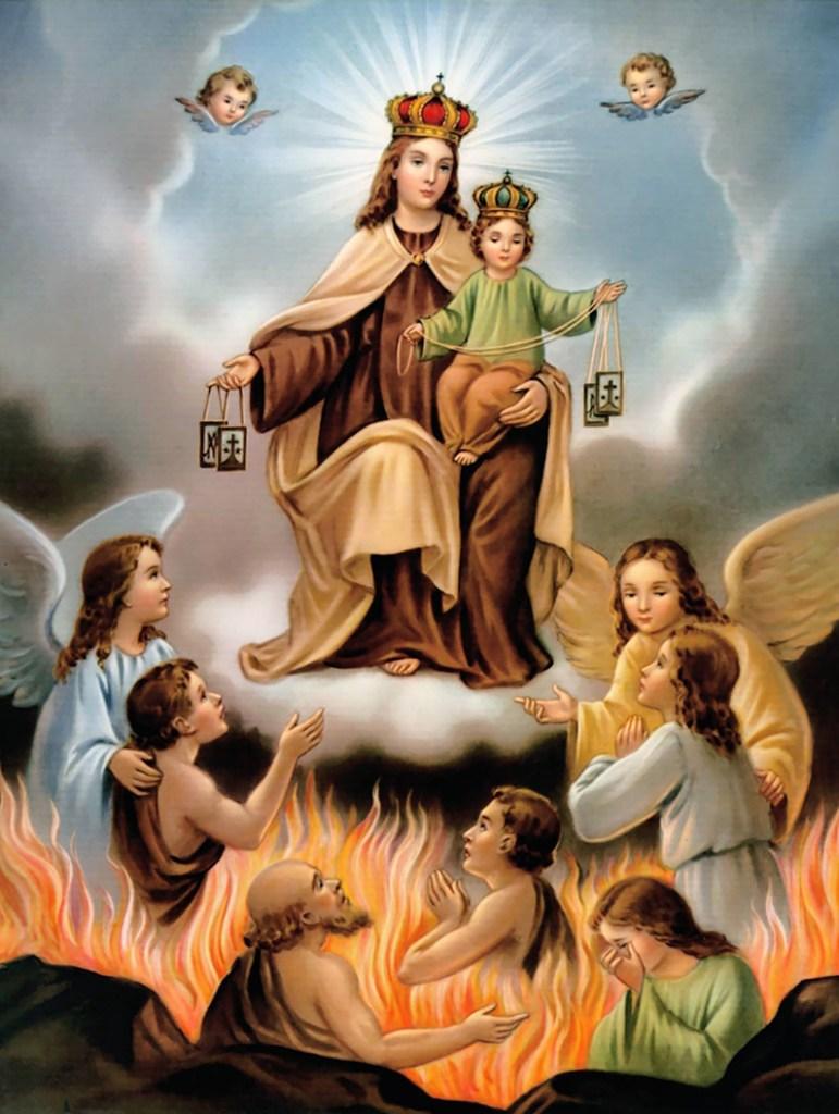 Oración a Nuestra Señora del Carmen por las almas del purgatorio