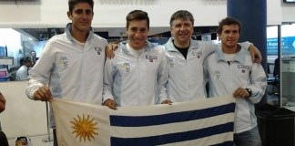 Delegación uruguaya Copa Davis Rodrigo Arus, Nicolás Xiviller, Enrique Pérez Cassarino (Capitán) y Santiago Maresca