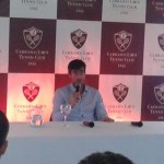 Pablo Cuevas en conferencia de prensa en el CLT