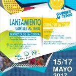 Afiche Lanzamiento Gurises al Tenis en Ciudad de la Costa