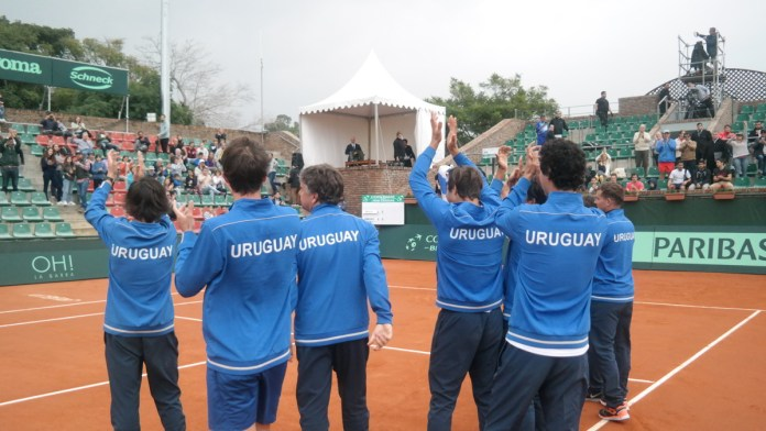 Festejos de equipo uruguayo