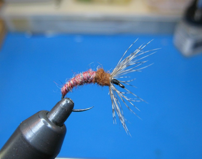 Tom Davis - Wool Bodied Tenkara Flies - Red-Assed Monkey