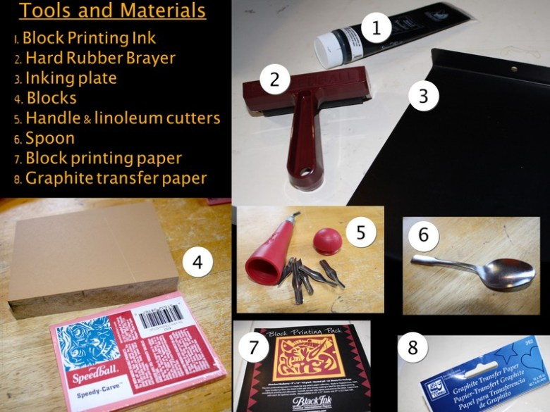 Anthony Naples SP16 - Primer In Block Printing - figure 1 materials and tools.jpg