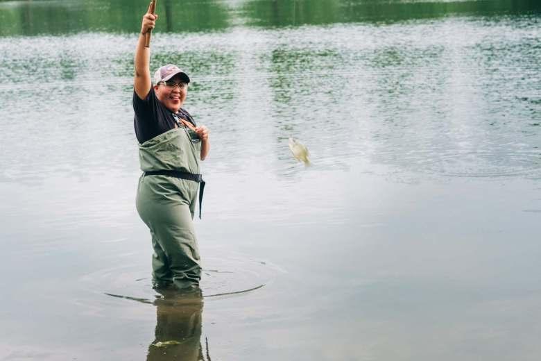 Aldric Nelson - Tenkara Introduction Fishing - Fish On