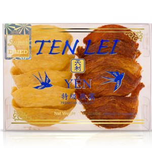 premium edible birds nest blue label 100 gram super gold and red