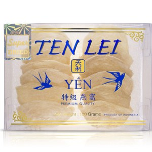 edible birds nest blue label 100 gram super white