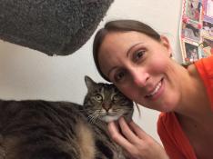 Volunteer Sheri & Benji Selfie