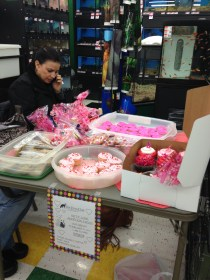 VOLUNTEER NICOLE MANNING THE BAKE SALE TABLE 2/21/15