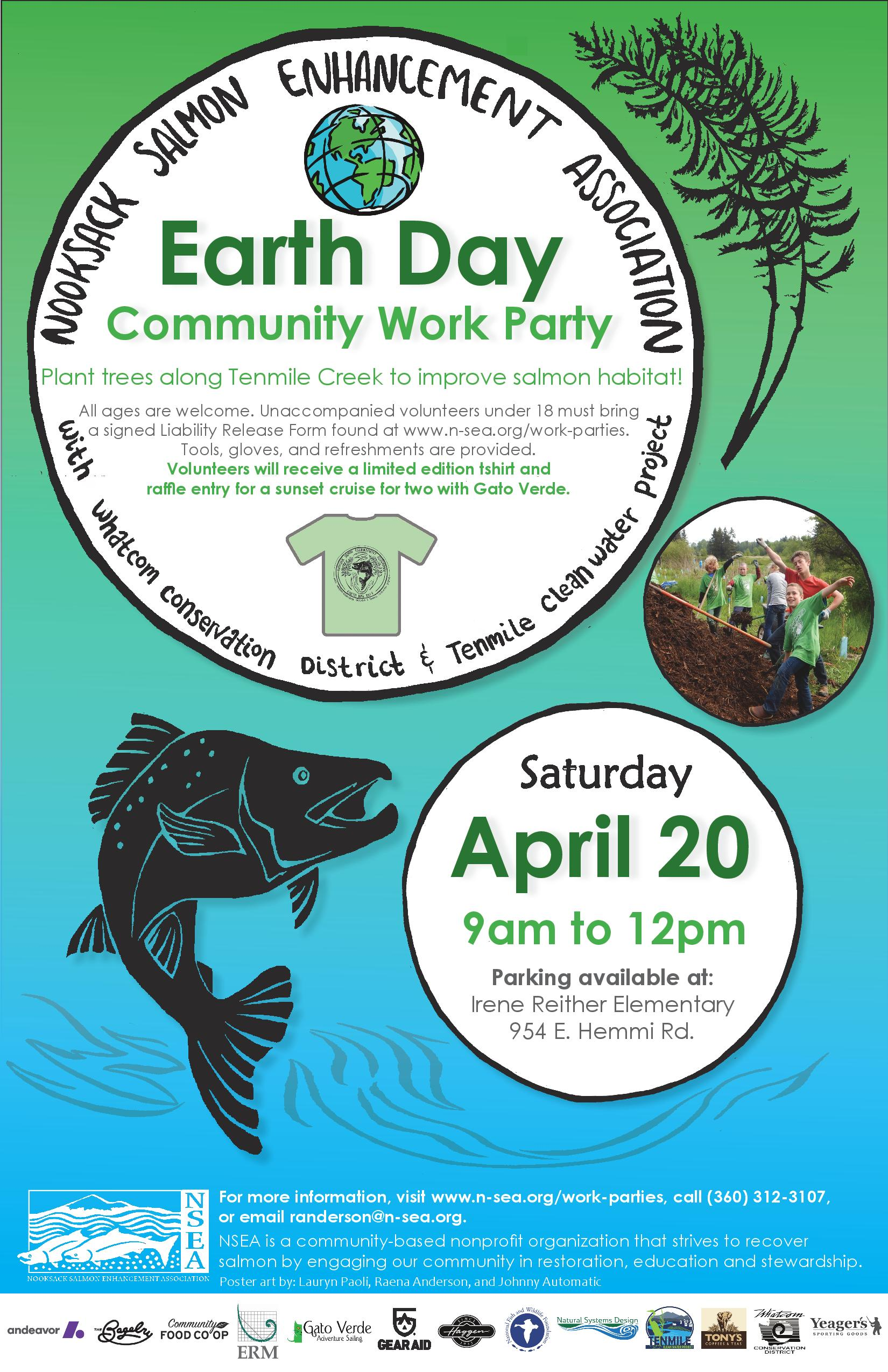 Earth Day Work Party On Ten Mile Creek April 20th